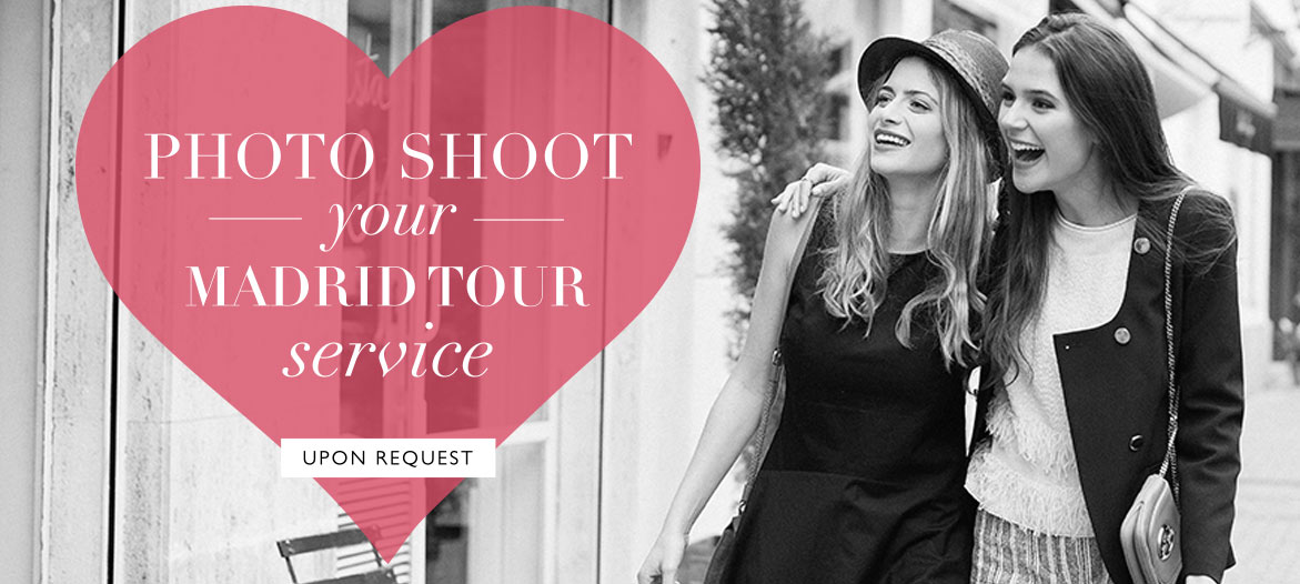 Photo shoot your Madrid Tour Service chicas y una corazón